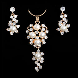 Simulated Pearl Necklace Sets