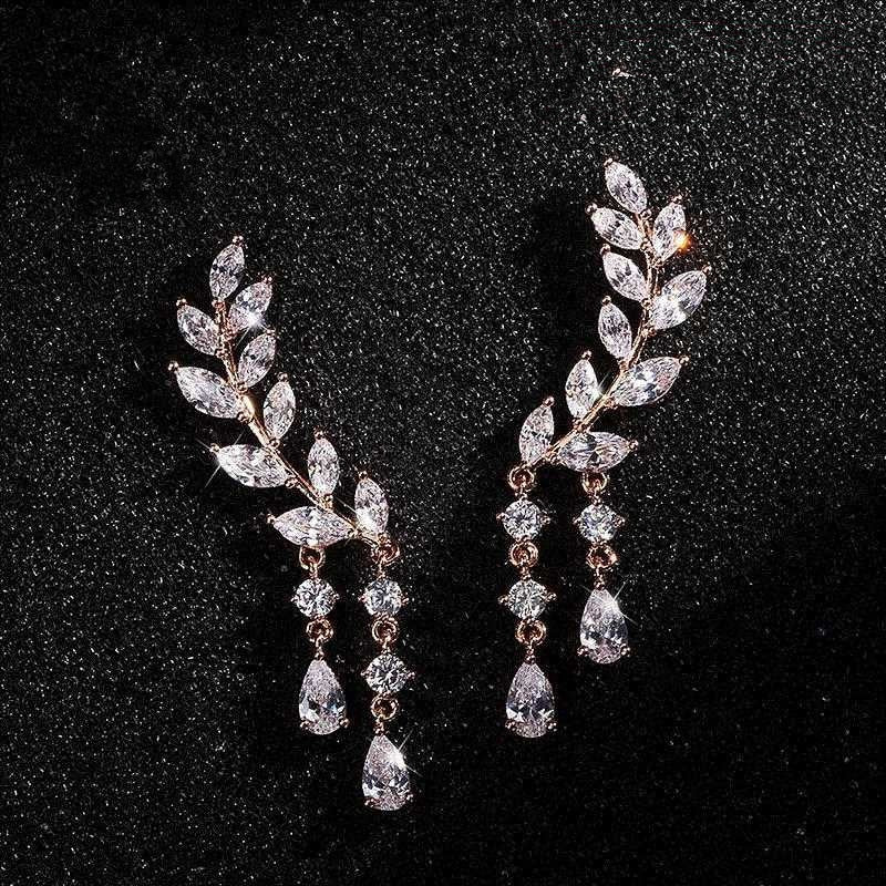 Angel Wings Hoop Rhinestone Earrings