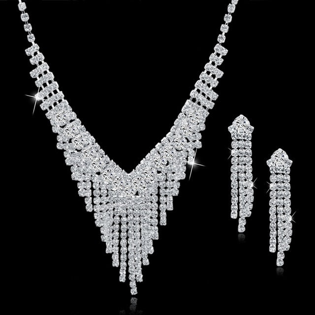 Crystal Bridal Jewelry Sets , Perfect for Statement Piece