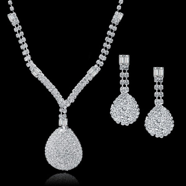 High Sale Crystal Bridal Jewelry Sets For Women's