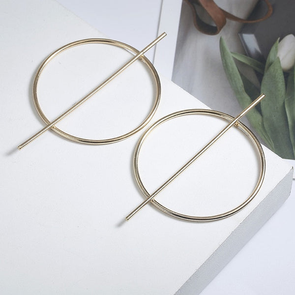 New Exaggerated Big Alloy Hoop Earrings For Women's