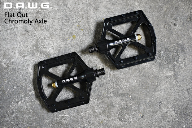 DAWG Flat Out Chromoly Axle Pedals