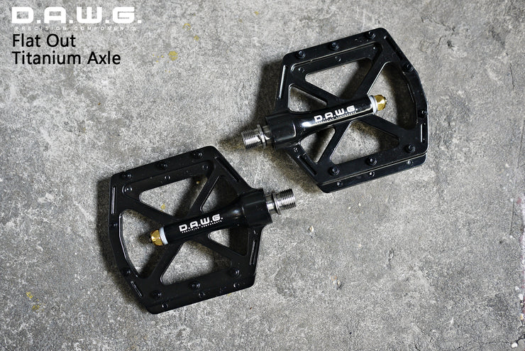DAWG Flat Out Titanium Axle Pedals