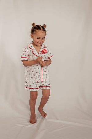 Kids Christmas Short Sleeve Shirt and Short set PRE ORDER ONLY