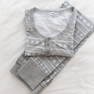 Womens Grey Printed Pyjama Set