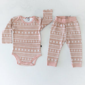 Rose Printed Baby Romper & Pant Set