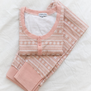 Womens Pink Printed Pyjama Set