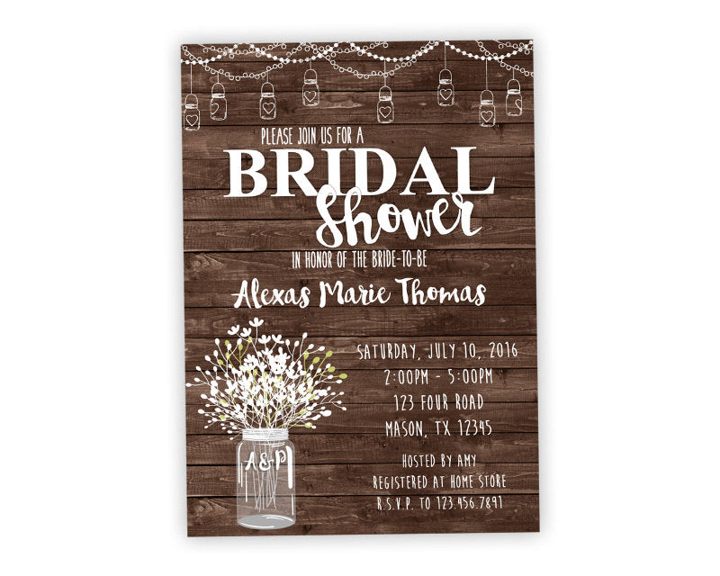 Country Bridal Shower Invites