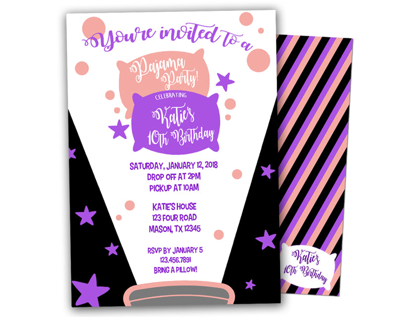 Slumber party birthday invitations party print express filmwisefo