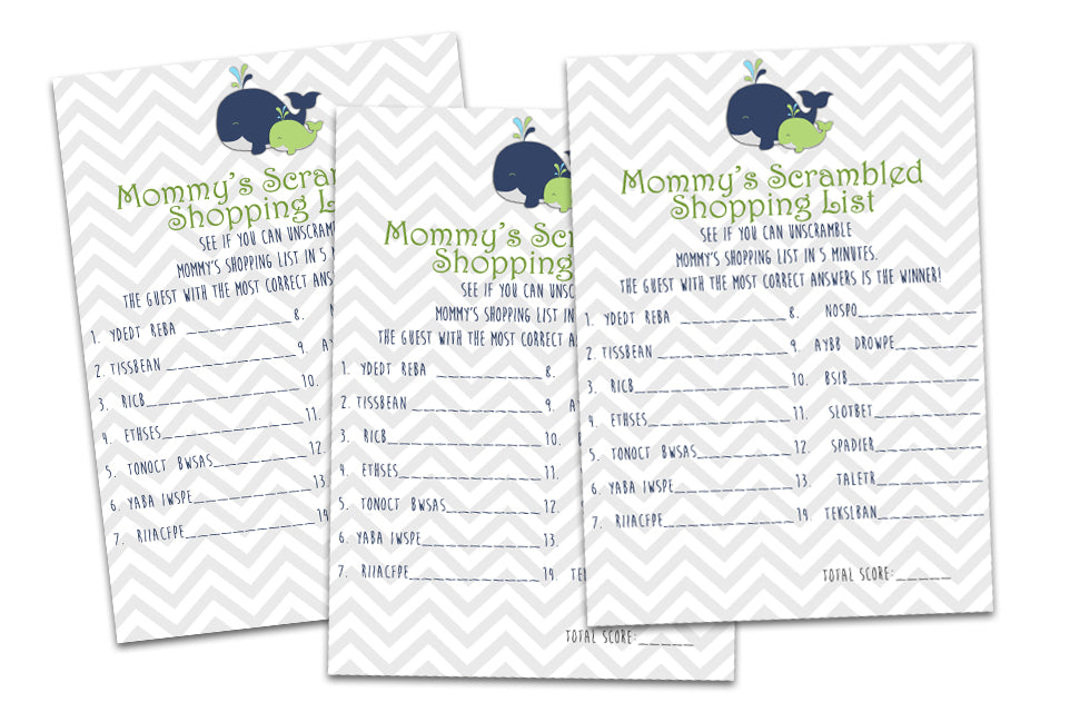 Baby Shower Game Sets For Party Print Express Themes Party Print