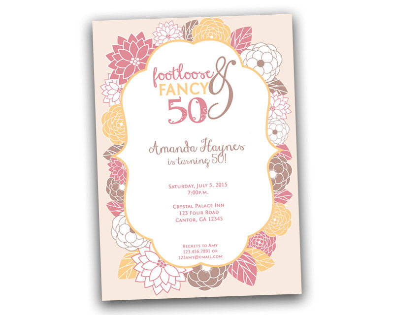 Footloose Fancy 50 Birthday Invitation