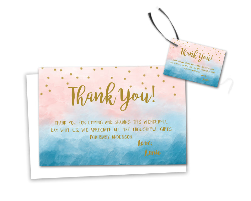 Twinkle Twinkle Baby Shower Thank You Cards Or Party Tags Party
