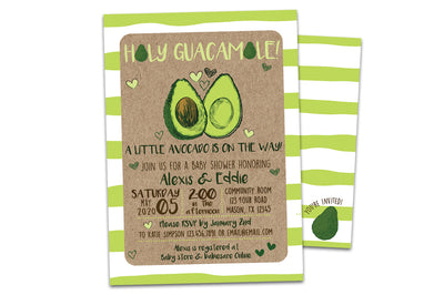 Avocado Invitations Baby Shower Bridal Birthday