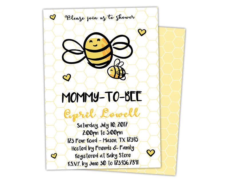 Mommy to bee baby shower invitations party print express baby shower invites filmwisefo
