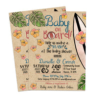 Baby on Board Pool Baby Shower Invitations