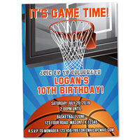Basketball Invitations Birthday Boy