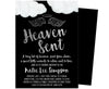 Black Heaven Sent Invitations