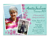 Blue Floral Birthday Invitation for Women