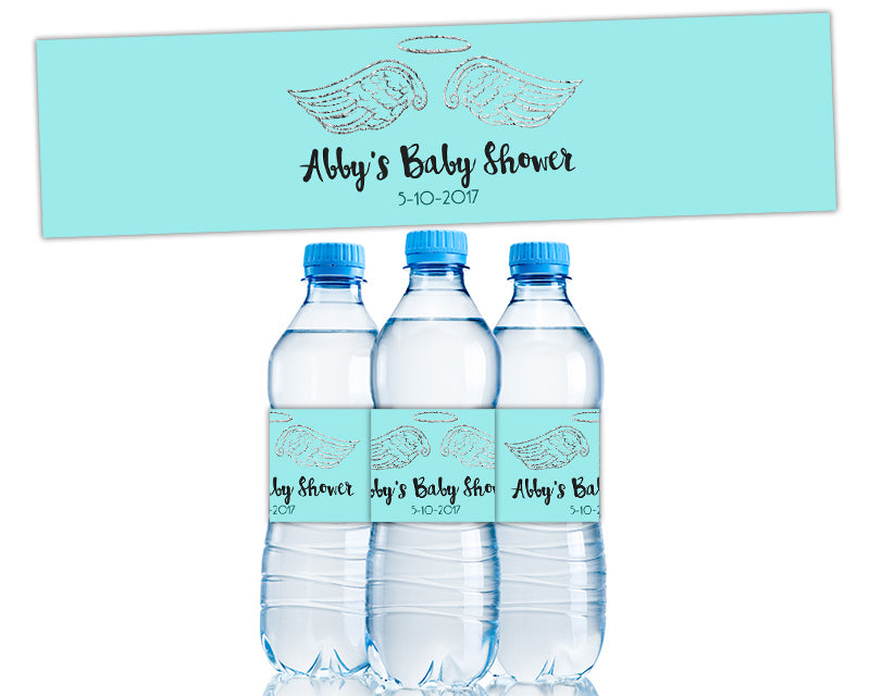 Heaven Sent Baby Shower Water Bottle Labels Party Print Express