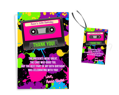 Cassette Thank You Cards or Tags