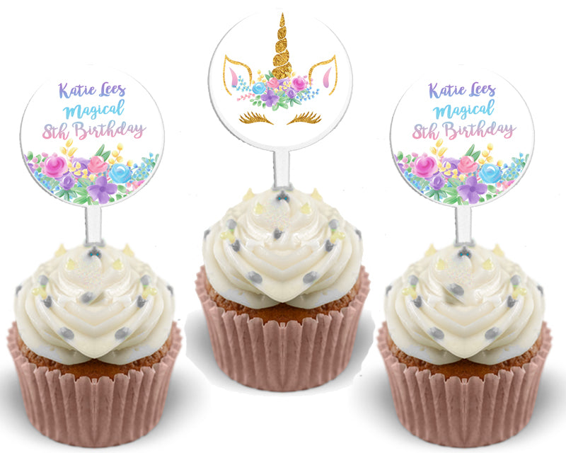 picture about Unicorn Cupcake Toppers Printable named Unicorn Cupcake Toppers Birthday