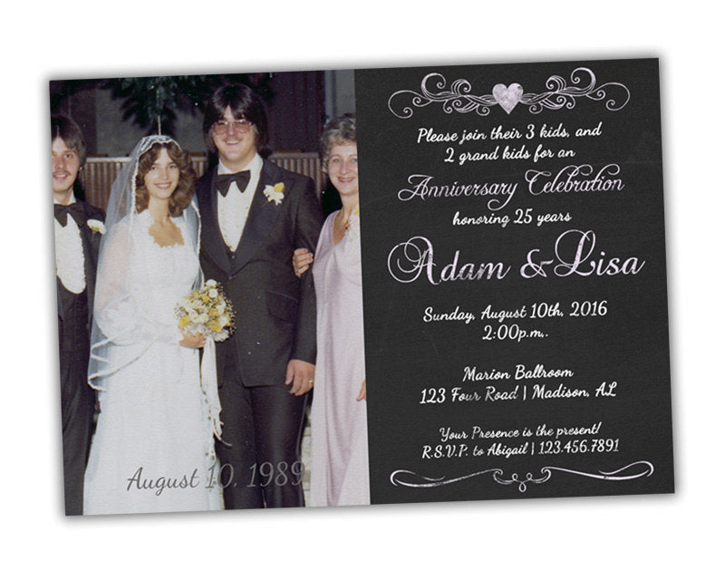 25th wedding anniversary party invitations party print express