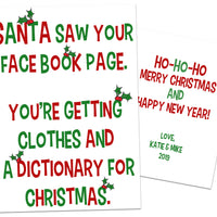 Funny Facebook Christmas Cards Dictionary