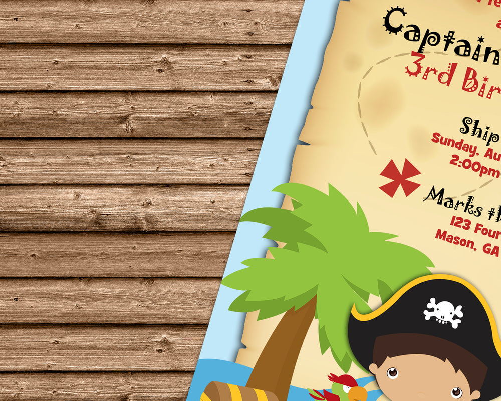 Ahoy pirate birthday party invitations map party print express pirate invitationg filmwisefo