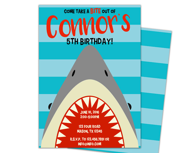 Shark birthday invitations party print express filmwisefo