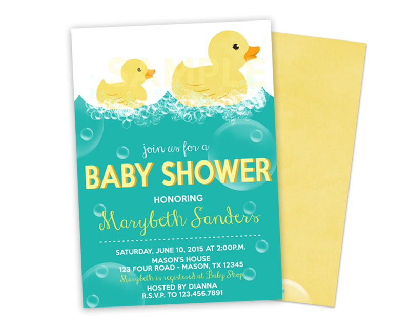 Rubber Ducky Baby Shower Invitations Party Print Express