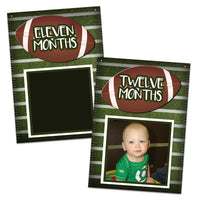 Football 1st Birthday Banner 12 Month Milestone