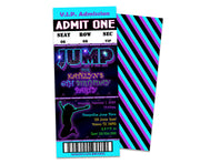 Girls Jump Birthday Party Ticket Invitations