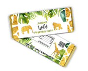 Gold Safari Candy Bar Wrappers