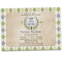 Vintage Golf Baby Shower Invitations Little Putter