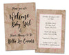 Country Kraft Girl Baby Shower Invitations