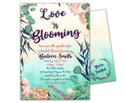Floral Garden Bridal Shower Invitations