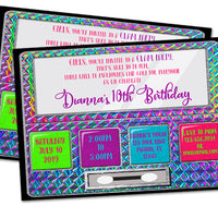 Makeup Glam Party Invitation