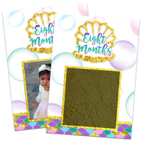 Mermaid 1st Birthday Photo Banner 12 Month