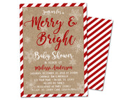 Christmas Holiday Baby Shower Invitations