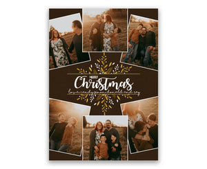 Rustic Family Photo Christmas Cards