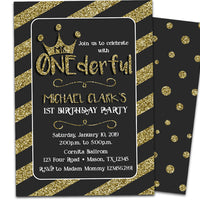 Mr ONEderful Birthday Invitations