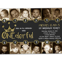 Monthly Photo Mr Onederful Invitations