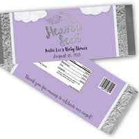 Purple Heaven Sent Baby Shower Candy Bar Wrappers