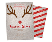 Reindeer Games Christmas Party Invitations