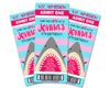 Girl Shark Admission Ticket Invitation Pink