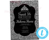 DIY Silver Glitter Sweet 16 Invitations - FREE DEMO