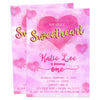 Sweetheart Valentines Birthday Invitations