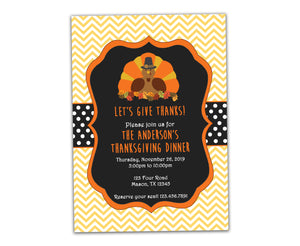 Give Thanks Thanksgiving Invitations