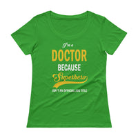Physician Sheer Cotton Ladies' Scoopneck T-Shirt