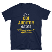 CDI Auditor FRONT & BACK Print - Cotton Short-Sleeve Unisex T-Shirt